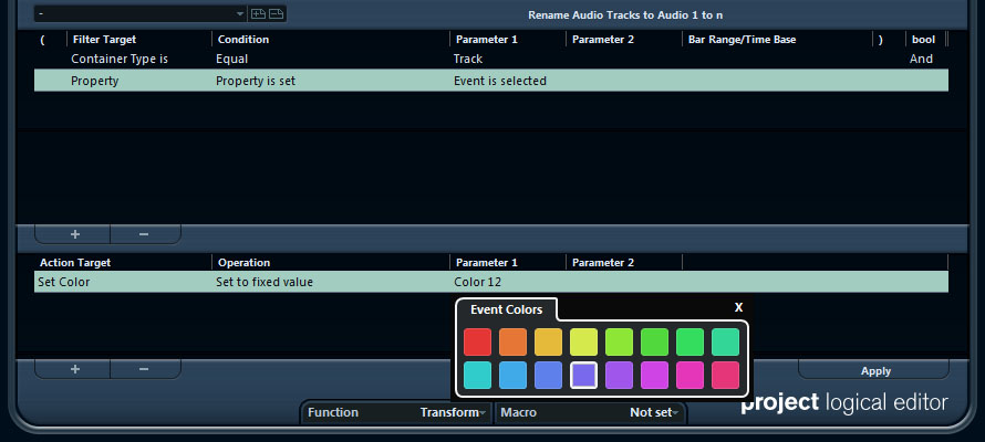 Change Color of Selected Tracks
